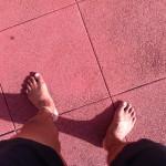 裸足で走るようになってから、足幅が・・・