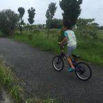 自転車とスピード競走!?